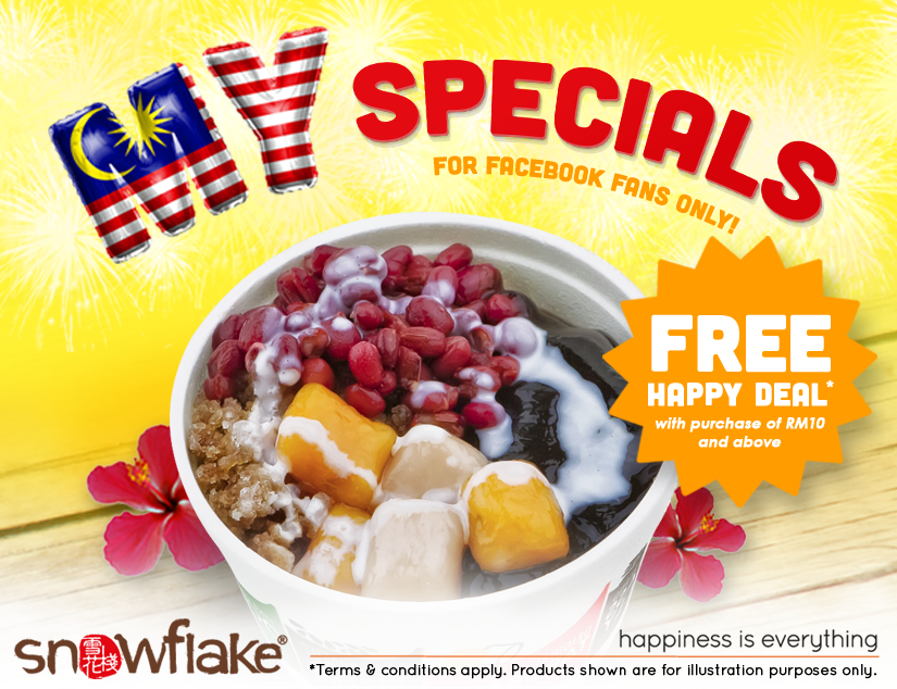 Snowflake's MY Specials - Free Happy Deal