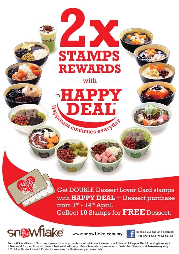 2x Stamps Rewards with Happy Deal