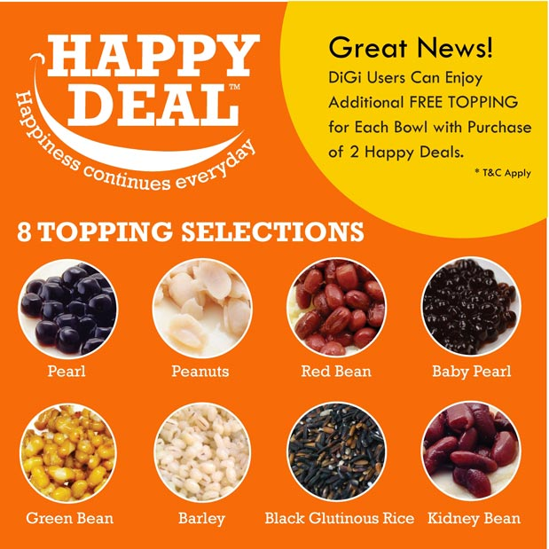 DiGi Subscribers Get Free Additional Topping!